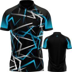 Arraz Flare Dart Shirt - with Pocket - Black & Blue