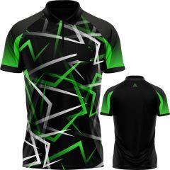 Arraz Flare Dart Shirt - with Pocket - Black & Green