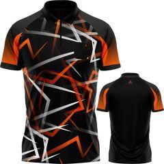 Arraz Flare Dart Shirt - with Pocket - Black & Orange