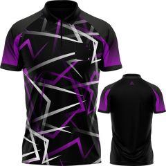 Arraz Flare Dart Shirt - with Pocket - Black & Purple