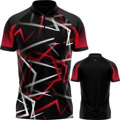 Arraz Flare Dart Shirt - with Pocket - Black & Red