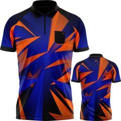 Arraz Shard Dart Shirt - with Pocket - Black & Blue - Orange