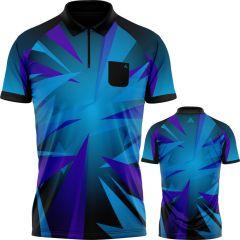 Arraz Shard Dart Shirt - with Pocket - Black & Blue - Purple
