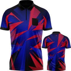 Arraz Shard Dart Shirt - with Pocket - Black & Blue - Red