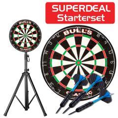 Bulls Classic Dartbord + 1 Setje Pijlen + Standaard