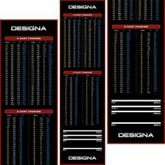 Designa Carpet Dartmat Checkout 290*80 Rood