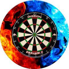 Designa Dartboard Surround - Design Collection - Heavy Duty - Fire and Ice