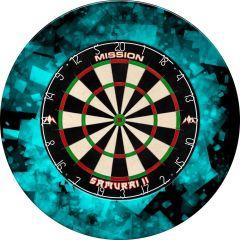 Designa Dartboard Surround - Design Collection - Heavy Duty - Fractal Blauw