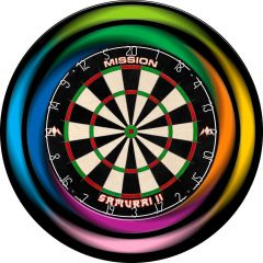 Designa Dartboard Surround - Design Collection - Heavy Duty - Rainbow