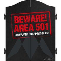 Mission Dartbord Cabinet Deluxe Beware Area 501