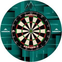 Mission Dartboard Surround - Design Collection - Heavy Duty - Vision Green