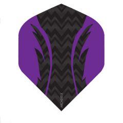 Archers Flights X100 Pro Black Purple