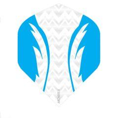 Archers Flights X100 Pro White Aqua