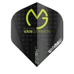 Winmau Flights MvG Gerwen Mega Black Green Logo 206