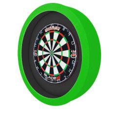 S4D Dartbord Verlichting XXL Duo Color Zwart Groen Neon