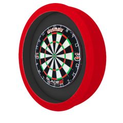S4D Dartbord Verlichting XXL Duo Color Zwart Rood