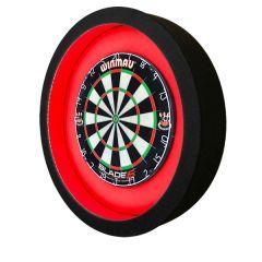 S4D Dartbord Verlichting XXL-I Duo Color Zwart Rood