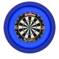 S4D Dartbord Verlichting XXL One Color Blauw