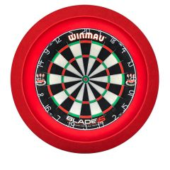 S4D Dartbord Verlichting STD One Color Rood