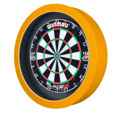 S4D Dartbord Verlichting STD DUO Color Zwart Geel