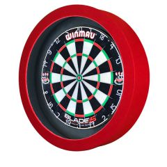 S4D Dartbord Verlichting STD DUO Color Zwart Rood