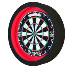 S4D Dartbord Verlichting STD-I DUO Color Zwart Rood