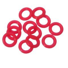 Target Ring Rubber 12 stuks Rood