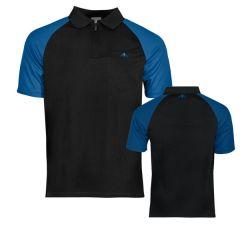 Mission Dartshirt Exos Black Blue-L | SALE