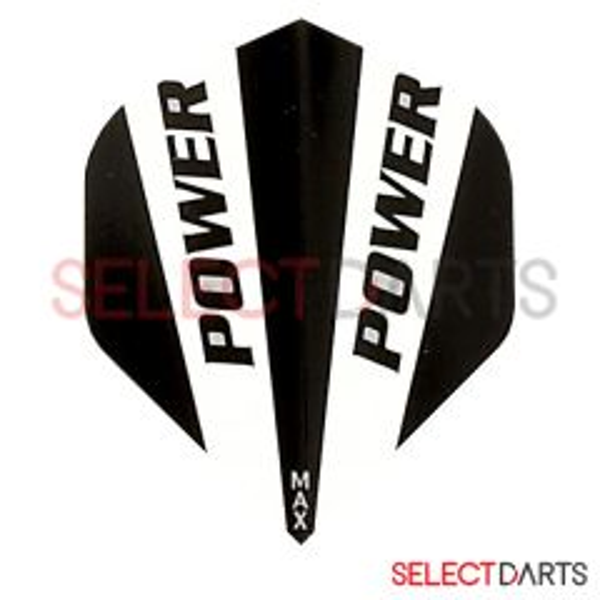McCoy Flights Power Solid Black White