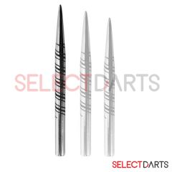 Harrows Dartpunt Laser Cut Zilver Spiral-38 mm
